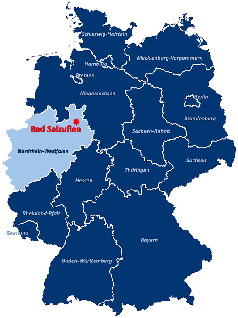 Lage von Bad Salzuflen auf der Deuschlandkarte