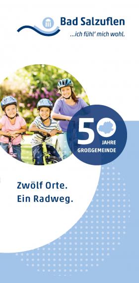 """Titelbild des Radwegeflyers """"Zwölf Orte. Ein Radweg."""", © Stadt Bad Salzuflen"""