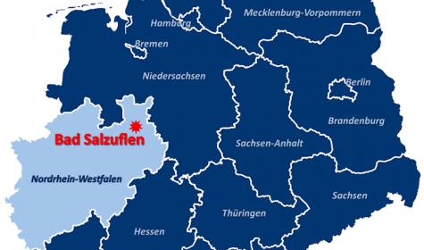 Lage von Bad Salzuflen auf der Deuschlandkarte, © Stadt Bad Salzuflen